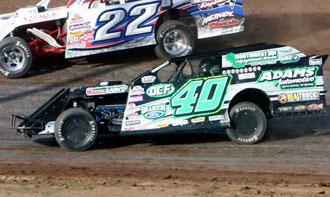 Kevin Adams wins the 2014 WISSOTA 100 Modified Feature, his 8th career WISSOTA 100 win, using Bassett 15x8 Inertia Advantage Armor Edge WISSOTA wheels.