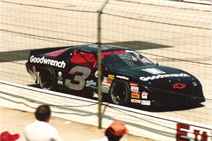 1989 NASCAR Winston Cup Champion RCR #3 Chevrolet Lumina driven by Dale Earnhardt on Bassett Racing Wheels.